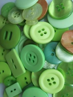 #buttons ok technically they are not clothes but we love these greens!