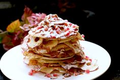 Apple, Cinnamon and Caramel Pancake stack