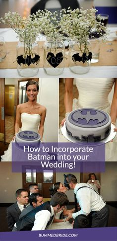 How to incorporate Batman into your wedding! #superherowedding #batmanwedding #weddingideas