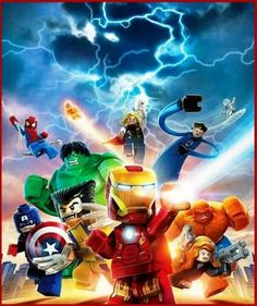 Ironman leads Lego superheroes (120 pieces)