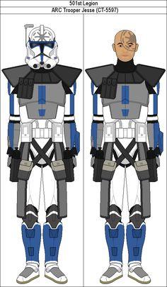 ARC Trooper Jesse by MarcusStarkiller on DeviantArt Star Wars Clone Wars, Star Wars Art, 501st Legion, Galactic Republic, Star Wars Pictures, Clone Trooper, Deviantart, Stars, Jedi Code