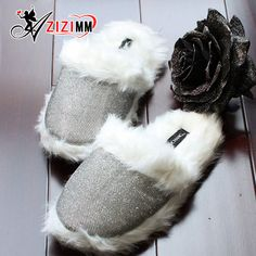 2017 New Women Comfortable Fur Slippers indoor Shoes Wool Slipper Home Footwear Flat Fashion House Slippers AWM95