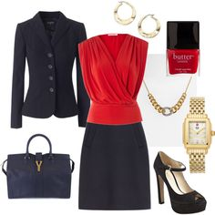 Work Wear Glam, created by tajarl on Polyvore