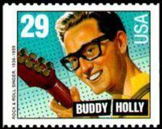 USA 2011 - Era del Rock - Charles Hardin Holley, mejor conocido como Buddy Holly, fue un compositor y cantante estadounidense, considerado hoy en día como uno de los pioneros y creadores del rock and roll, a mediados de la década de 1950