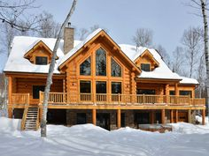 Featuring a hot tub Chalet Four Bears is located in Labelle. This chalet provides air-conditioned accommodations with free WiFi. Chalet Four Bears Labelle Canada R:Quebec hotel Hotels For Rent By Owner, Cottage, Cabins In The Woods, Cool House Designs, Log Homes, New England, Building A House, House Plans, Architecture