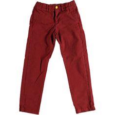 Feestelijke rode broek Vault uit de wintercollectie van Bellerose, voor jongens, met steekzakken voor en twee kontzakken.