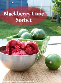 ICOTW: Blackberry-Lime Sorbet