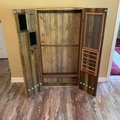 necklace holder and earring organizer jewelry case armoire wall mount cabinet large gift for her Wood Jewelry Display, Wall Mount Jewelry Organizer, Jewelry Rack, Jewelry Cabinet, Jewelry Armoire, Jewellery Storage, Jewelry Holder, Wooden Jewelry, Earring Storage