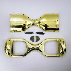 DIY New Chrome Golden 6.5 Inches Smart Self Balancing 2 Wheels Standing Electric Scooter Hoverboard Case Outer Shell Replacement
