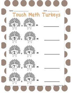 math worksheet : touch math subtraction practice worksheet set  touch math  : Touch Math Money Worksheets