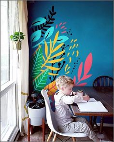Do you love the look of colorful murals, but don't have a huge wall to use? I'm now offering MINI MURALS! Add a custom designed splash of color to any… – Renovation Kids Wall Murals, Mural Wall Art, Mural Painting, Murals For Kids, Bedroom Murals, Bedroom Wall, Diy Bedroom, Wall Drawing, Interior Design Living Room