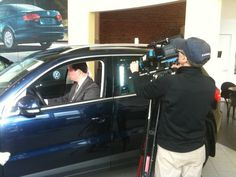 Ray shooting b-roll with Larry in the Tiguan!