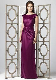 Fashion Long Satin Bateau Asymmetric Waist Maid of Honor Dress - 1300252137B - US$95.79 - BellasDress