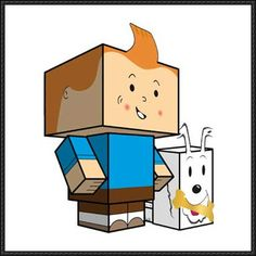 The Adventures of Tintin - Tintin and Snowy Cube Crafts Free Paper Toys Download - http://www.papercraftsquare.com/adventures-tintin-tintin-snowy-cube-crafts-free-paper-toys-download.html
