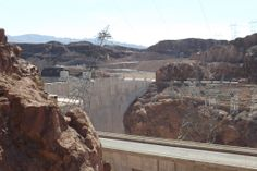 Hoover Dam, once known as Boulder Dam, is a concrete arch-gravity dam in the Black Canyon of the Colorado River, on the border between the U.S. states of Arizona and Nevada.