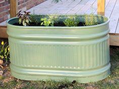DIY Water Trough Herb Garden - Momtastic