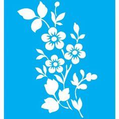 Stencil-para-Pintura-20x15-Flores-5-Petalas-LSM-019---Litocart
