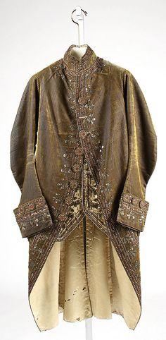 Court Suit    Date:      ca. 1780  Culture:      French  Medium:      silk, metal, cotton, glass