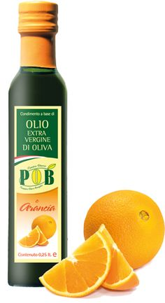 $4   Extravirgin olive oil with Oranges    Flavored with natural    The orange oil is characterized by a bitter-sweet taste, to savor raw with delicate dishes. Recommended on white meats, fish and dough cakes. This product is available in bottles of 0,25 liters.  www.oliopob.it