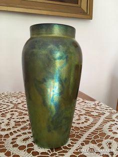 Zsolnay kék-zöld eozin váza