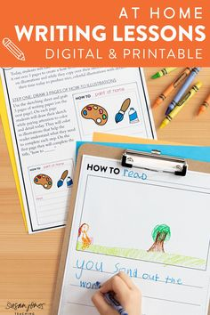 Looking for some fun and easy first grade writing activities that can be done at home?! Head on over to the blog post to read about these simple-to-follow writing lessons that can be used at home or in the classroom! They're great for any teachers/parents who are doing distance or remote learning because they are available in both digital and printable format!
