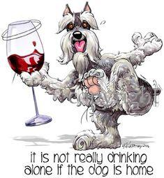 Schnauzer It's not drinking alone 2