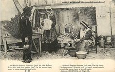 Oude ansichtkaarten uit Frankrijk 170x; diverse ansichtkaarten - dorpen en steden - scènes uit het dagelijkse leven - panorama - klederdracht en anderen