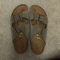 Size 38 (Size 9) Birkenstocks! Brand new Birkenstocks.. Never worn of house and in perfect condition. Very comfortable and great shoes for summer! Great great great deal and a very popular color! Open to offers so please don't hesitate to comment Birkenstock Shoes Sandals
