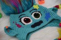 Meet Harper from Trolls the movie . Hello hello hello, glad you have popped over to my blog. I have designed a Troll hat from the new movie Troll's that's coming out. My girls are in love with the movie and can't wait to see it and I thought why not create them some troll…