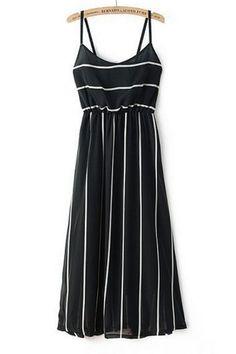 Contrast Stripped Dress - OASAP.com