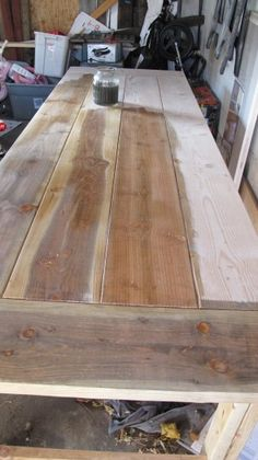 Steel Wool & Vinegar Stain - For Farmhouse table