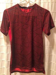 385c0c0e Boys C9 by Champion Running Shirt - Large - Red/Black - Short Sleeve -