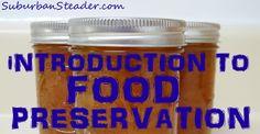 Food preservation is