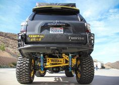 These life-size Tonka toys — lifted versions of the Toyota Tundra pickup and Ford truck — make appearances at off-road motorsports events around the country to help promote Tonka's legendary brand. Overland 4runner, 4runner Trail, Toyota 4runner Trd, Toyota 4x4, Toyota Trucks, Jeep Suv, Jeep Truck, Off Road Truck Accessories, Best Off Road Vehicles