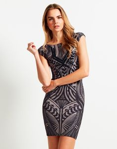 Lipsy Print Bodycon Dress