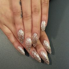 Stiletto nails☻New Years nails