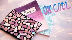 Gökkuşağı Defter Yapımı   KENDİN YAP   DIY   Rainbow Notebook - YouTube