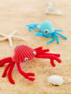 Summer Crafts for Kids Spectacular Summer Craft Ideas for Kids Fab Crabs Turn beachcombed finds into shoreline critters thatll help keep vacation memories alive. The post Summer Crafts for Kids appeared first on Summer Diy. Quick Crafts, Easy Arts And Crafts, Summer Crafts For Kids, Family Crafts, Easy Crafts For Kids, Arts And Crafts Projects, Toddler Crafts, Crafts To Make, Art For Kids