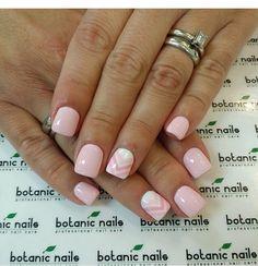 Pink chevron nails!
