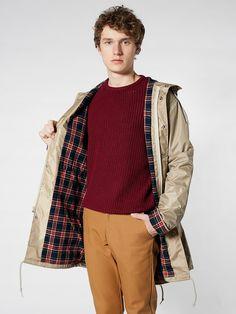 Flannel-Lined Rain Parka | Winter Coats | Men's Outerwear | American Apparel