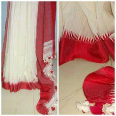 Soft cottin with silk border and noil silk pallu, blouse piece the color ofborder Kota Sarees, Indian Sarees, Elegant Fashion Wear, Trendy Fashion, Saree Dress, Saree Blouse, Cotton Saree, Cool Style, Silk