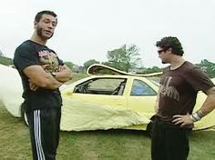 Evil Jared and Bam Margera with the banana car The Bloodhound Gang, Alternative Hip Hop, Bam Margera, Pop Punk, Rap, Comedy, Singing, Banana, American