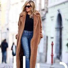 Brand Design Faux Fur Overcoat & Long Jackets for Women Extra Now – sunifty Fashion Week, Look Fashion, Autumn Fashion, Fashion Trends, Fashion Clothes, Fashion Boots, Fashion Tips, Pastel Outfit, Womens Fashion Online