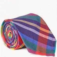 Gant Corbata de cuadros tipo madrás en algodón