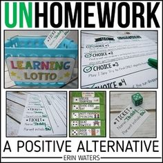 This alternative homework system is research-based as well as parent, student, teacher, Classroom Management Strategies, Classroom Incentives, Morning Meeting Activities, Back To School Night, Middle School, Letter To Parents, Classroom Organization, Organization Ideas, Classroom Setup