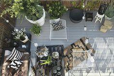 Tropic Decor Style on the Terrace Garden Oasis, Home And Garden, Spanish Apartment, Bedroom Balcony, Deck Decorating, Patio Plants, Outdoor Living, Outdoor Decor, Deck Design