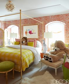 This colorful space puts a playful yet sophisticated spin on the traditional girls bedroom.