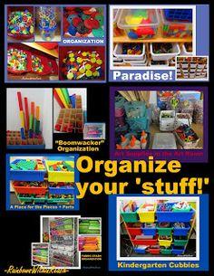 photo of: Classroom organization, teacher organization ideas, shelves in preschool