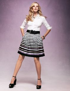 Skirts of a different stripe.  #whbm #spring
