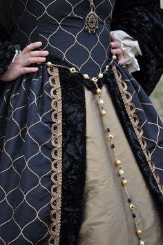 Renaissance Boleyn Court Tudors dress costume with by MattiOnline